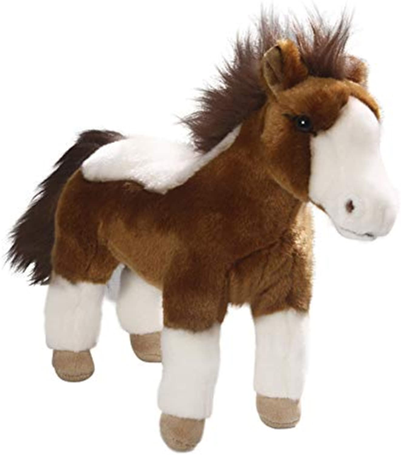 Horse Standing Brown-White, 12.5 inches, 35cm, Plush Toy, Soft Toy, Stuffed Animal 3287002