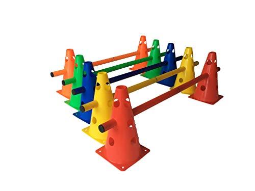 LA-24 5er Set Steckhürden 23 cm, Kegelhürden für Agility in 5 Farben (Standard)