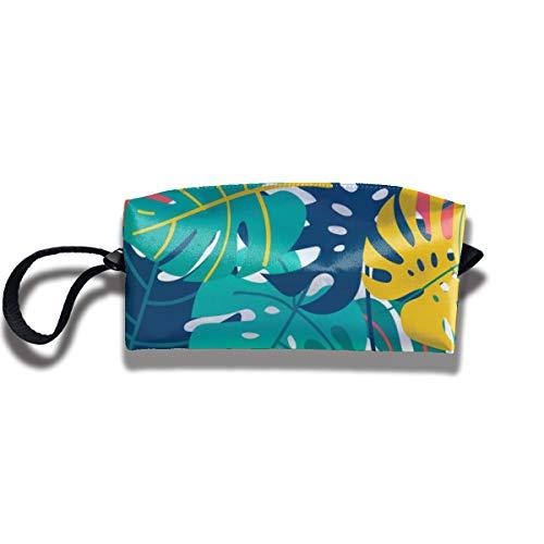 Bbhappiness Pouch Handbag Cosmetics Bag Case Purse Travel & Home Portable Make-up Receive Bag Monstera