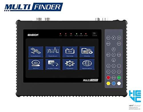 EDISION Multi-Finder Messgerat für Satelliten DVB-S/S2 Terrestrische DVB-T/T2 Kabel DVB-C Signale H.265/HEVC & CCTV-Tester