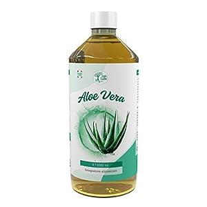 Zumo de aloe vera 96 % + vitaminas C y E + potasio y magnesio – 1 litro – Fabricado en Italia con certificado ISO9001 y GMP – Primera clasificación 2021