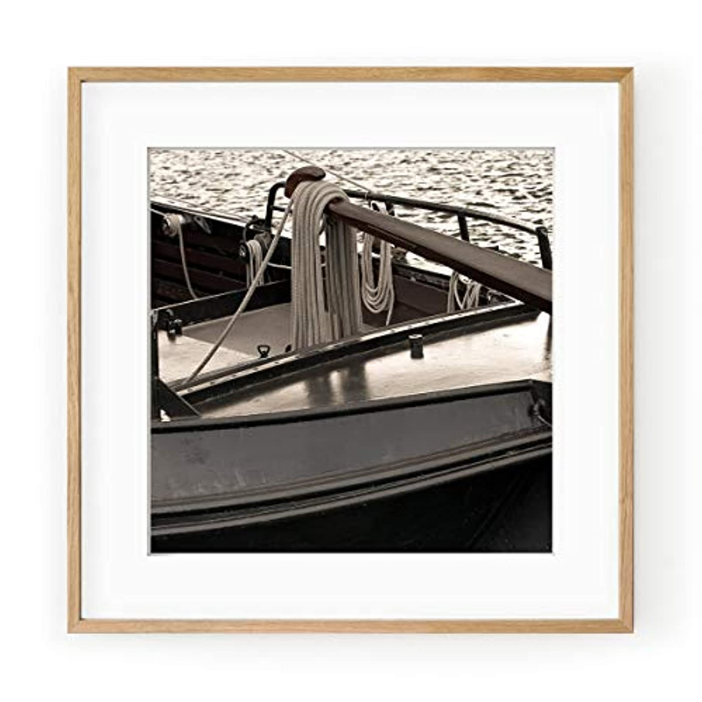 Dutch Boat, Aluminium Frame, with Mount, Multicolored, 40x40