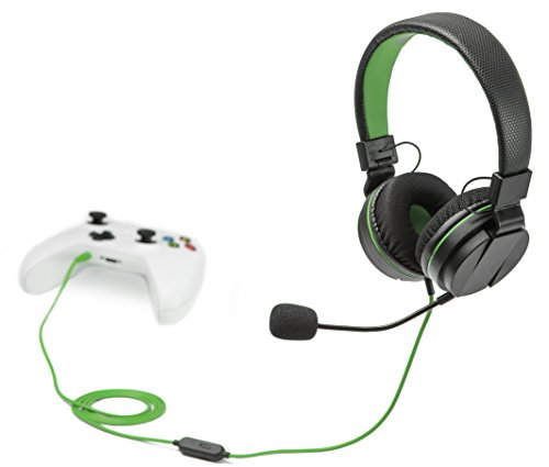 snakebyte Xbox One HEADSET X - Stereo Gaming Headset mit Mikrofon für die XBOX One / XBOX One X, 3,5mm Audio Stecker, kompatibel mit PC, PS4, VOIP, Telefonkonferenzen, VideoCall, Skype, Zoom usw.