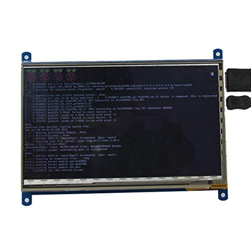 weichuang Accesorios electrónicos de 7 pulgadas 1024 x 600 HD capacitiva IPS LCD de pantalla táctil de 5 puntos Soporte RPi/Banana Pi/Beaglebone Negro piezas electrónicas Accesorios electrónicos