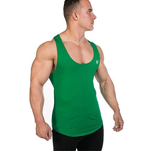 Baumwollweste Singlet Herren Baumwoll-Sportweste Fitness Muscle Schnell trocknende Sweat-Weste Rundhals I-Form Eng anliegendes ärmelloses Sweat-absorbierendes Tank-Top Elastisches, dünnes Sportbekleid