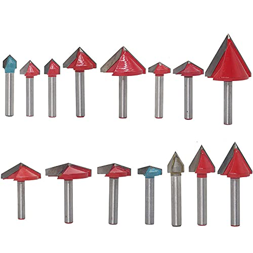 15 anillos de tungsteno herramienta de grabado enrutador 60 90120120150 grados fresado tipo V 6mm grabado V broca de trinchera