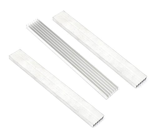 OdiySurveil (TM) 3-Pack 150 x 20 x 6MM Aluminium Heatsink Diffusion Cooling Fin PC Module Parts