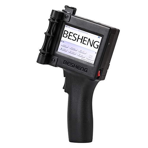 BESHENG Portable Intelligent High Definition Handheld Inkjet Printer, Inkjet Code Printer,Label Printer,LED Screen Display Inkjet Coding Machine for Trademark,Logo,Graphic,Date Coder,Label etc Delaware