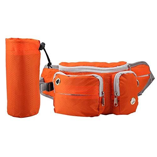 Futterbeutel für Hunde, Pet Treat Training Pouch Hundetraining Treat Taschen Tragbare Dog Snack Tasche Hund Leckerli Beutel Mehrfachtaschen für Tragende Wasserbecher Hunde Snack und Spielzeug(Orange)
