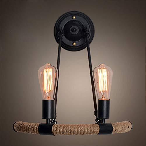 AOKARLIA Lámpara de Pared Vintage E27 Apliques de Pared Luminaria Industrial Retro Hierro Características para Iluminación Interior - Sin Bombilla,A,40 * 43CM