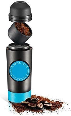 KaiKai Máquina portátil de café, 2 en 1 cápsula de Tierra Mini Cafetera Espresso, USB eléctrica Caliente y frío extracción de café en Polvo Máquina de cápsulas
