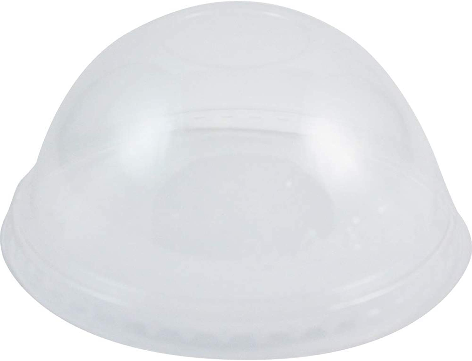 World Centric CPL-CS-12DP 100% Compostable Ingeo Dome Lids, No Straw Hole, for 9Q - 24 oz. Cups, Clear (Pack of 1000)