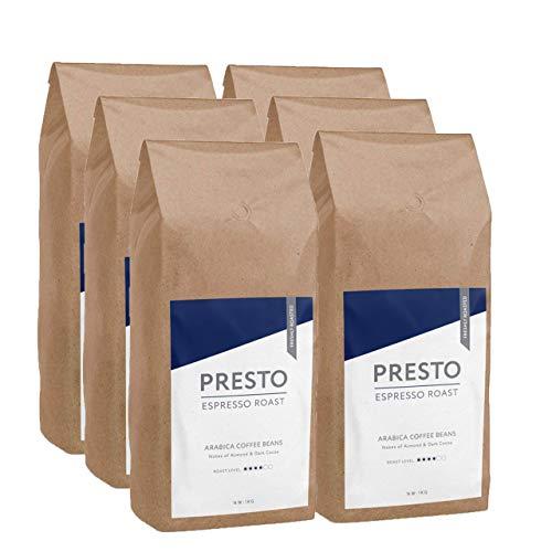 KaffeeBohnen - Espresso Bohnen - 100% Arabica Kaffee ganze bohnen - french press - 6 x 1kg Starke Kaffeebohnen - (6KG ) - gut für Kaffeemaschine mit Mühle