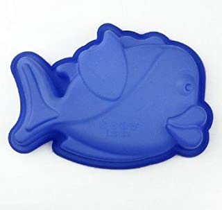 Allforhome Fish Shape Silicone Cake Baking Mold Cake Pan Muffin Cups Handmade Soap Moulds Biscuit Chocolate Ice Cube Tray DIY Mold