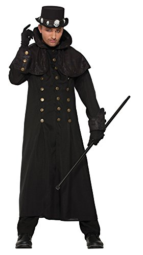 Novelties-X76658 Forum Novelties X76658 Manteau Steampunk Long, Multicolore