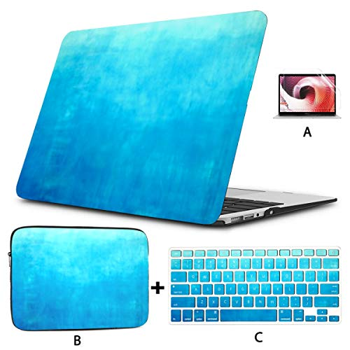 MacBook Case 13' Pro USB-C 2016-2019A2159/A1706/A1708/A1989,3D Rendering Abstract Fast Moving Stripe Plastic Hard Shell,Sleeve Bag,Keyboard Cover,Screen Protector,4 in 1 Laptop Case