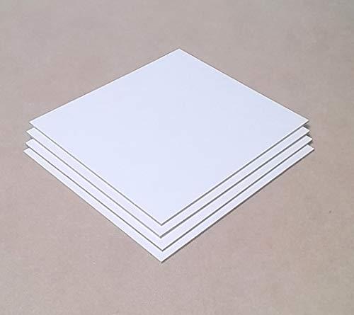 3 mm dikke MDF-platen aan beide zijden wit. Afmetingen: 600 x 400 mm. Speciale maten.
