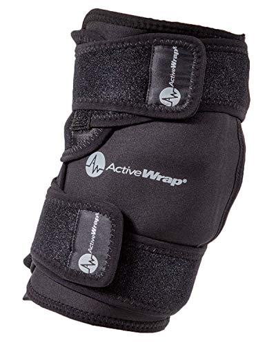 ActiveWrap Knee Ice Pack Wrap for Knee Pain ACL Injuries with Reusable Hot Cold Packs - Large /...