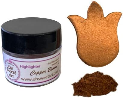 COPPER BROWN HIGHLIGHTER DUST 4 hig Ranking TOP17 Outlet ☆ Free Shipping container each grams gold