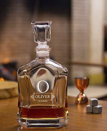 Decantador De Whisky Personalizado, Grabado A Medida Para Licor Escocés Bourbon O Vino, Tamaño 700ml