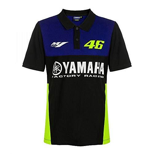 Valentino Rossi VR46 Moto GP M1 Yamaha Racing Team Polo Shirt Offiziell 2019