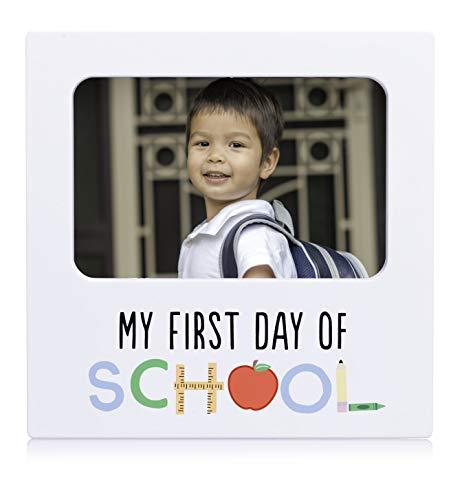 Kate & Milo - Marco de fotos para el primer día de la escuela, regalo de recuerdo para padres o estudiantes, ideal para marco de grado K – 12 o grado de graduación, color...