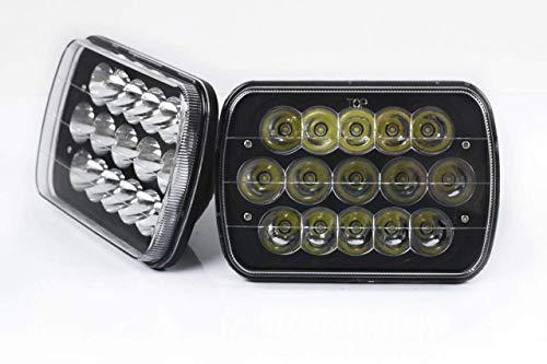 2 pc V-Spec LED 7x6 Premium Headlight Conversions Black H6014/H6052/H6054 5x7 7x6 replacement