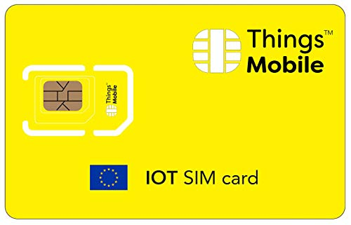 SIM Card IoT EUROPA Things Mobile con copertura globale e rete multi-operatore GSM 2G 3G 4G LTE, senza costi fissi, senza scadenza e tariffe competitive, con 10 € di credito incluso