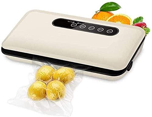 LSDRALOBPOI Selladora al Vacio Envasador al Vacío Inicio Selladoras al vacío Cocina Máquina de Sellado al vacío Ahorrador de Alimentos Automático portátil para el hogar 729(Color:Beige)