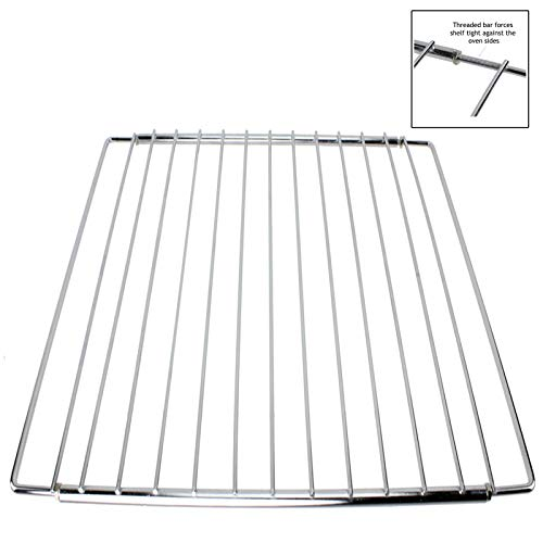 SPARES2GO Universal Adjustable Extendable Locking Arm Shelf for 60cm Oven Cooker Grill