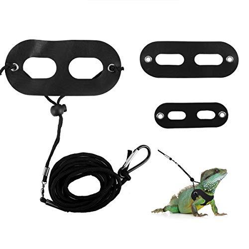 Petyoung 3Er Pack Verstellbares Reptiliengeschirr Eidechsenleine Bartagamenleine Gecko-Leine für Amphibien Und Andere Kleine Heimtiere