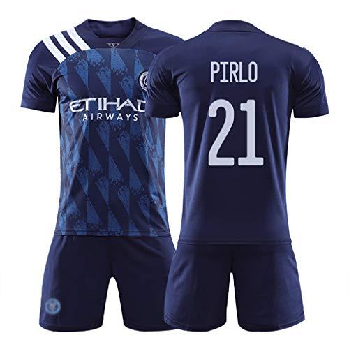 LASERIPLF 2020-21 Football Training Club T-Shirts, New Season Fußballfans Trikotsets Uniform, David Villa Ring Pirlo Trikot für Kinder/Jugendliche/Erwachsene-#21-M