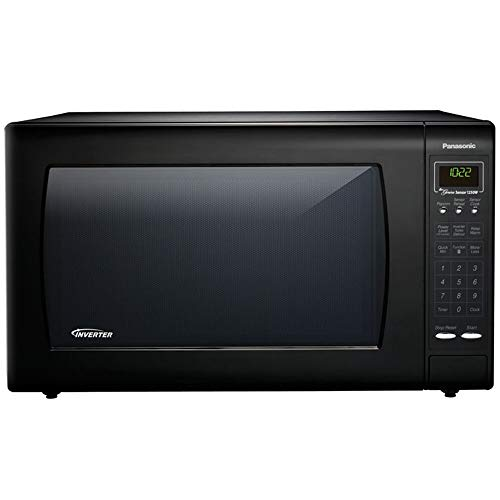 Great Deal! Panasonic NN-H965BF – 2.2 Cu. Ft. Countertop Microwave Oven with Inverter Technology – Black (Renewed)