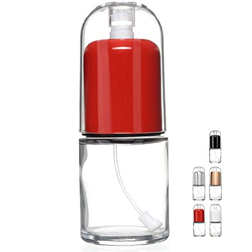 CHEFVANTAGE Olive Oil Mister and Premium Cooking Sprayer with Clog-Free Filter and Glass Bottle CHEFVANTAGE - Red