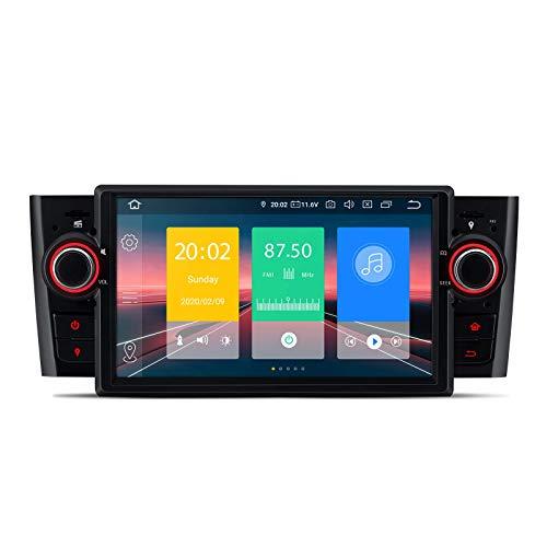 KAUTO Bluetooth 5.0 Android 10.0 Autoradio 1 DIN-Radio 7-Zoll-Touchscreen GPS-Navigationskopf Unterstützung für Plug-and-Play-WiFi-DVR-OBD-TPMS-Displayspiegelung für FIAT Grande Punto Linea