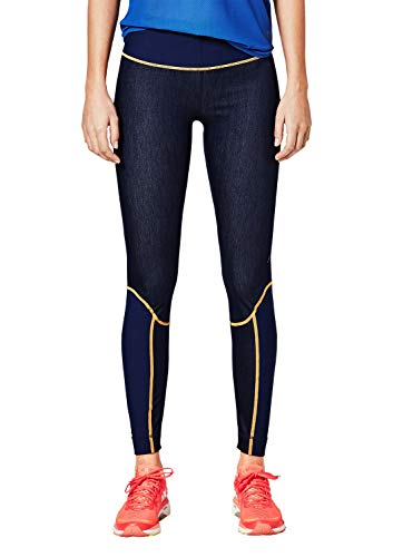 s.Oliver ACTIVE Damen 2H.802.75.7229 Sporthose, Blau (Blue Denim Stretch 58z8), 38 (Herstellergröße: M)