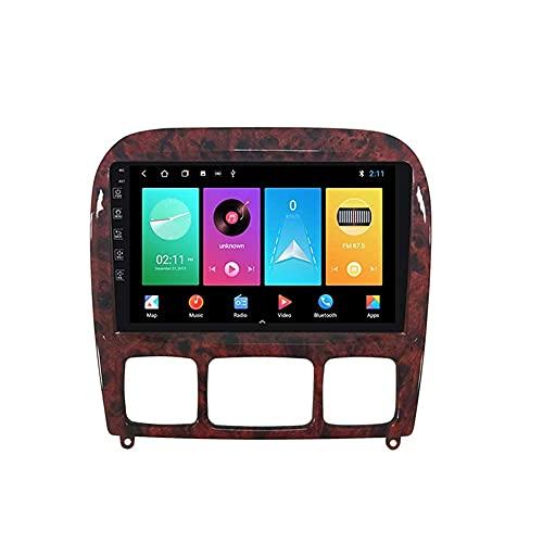 Android 10.0 coche estéreo 2 Din In-Dash Radio para Mercedes Benz Clase S W220 S280 S320 1998-2005 navegación GPS pantalla táctil MP5 reproductor multimedia video receptor con 4G/5G WiFi Carplay