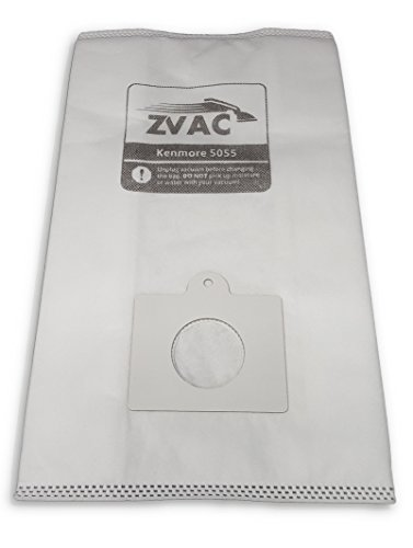 ZVac Replacement Kenmore Canister Type C&Q Vacuum Bags Compatible with Kenmore Part # 137-9, Km48751-12 Fits Kenmore 50403 20-50410 50410 29430 29435 29459 24975 24981 & 24991-18 Pack in A Bag