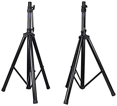 Pair Rockville RVES1 Adjustable Tripod DJ PA Speaker Stands+Carry Bag/Universal from Audiosavings