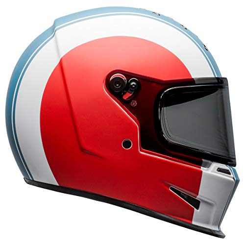 Bell Eliminator Adult Street Motorcycle Helmet - Slayer White/Red/Blue/Medium/Large