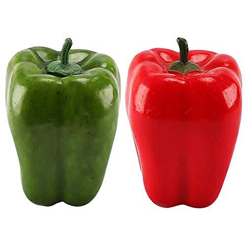 N\C Künstliche Chilischoten und Obstfotos, Requisiten für Dekoration, Zimmer, Heimdekoration, 2 Stück