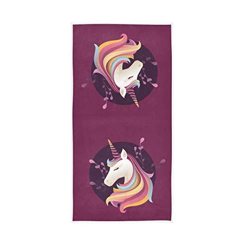 Mr.XZY Toalla con diseño de unicornio, color rosa