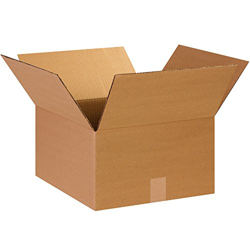BOX USA B14148 Corrugated Boxes, 14'L x 14'W x 8'H, Kraft (Pack of 25)