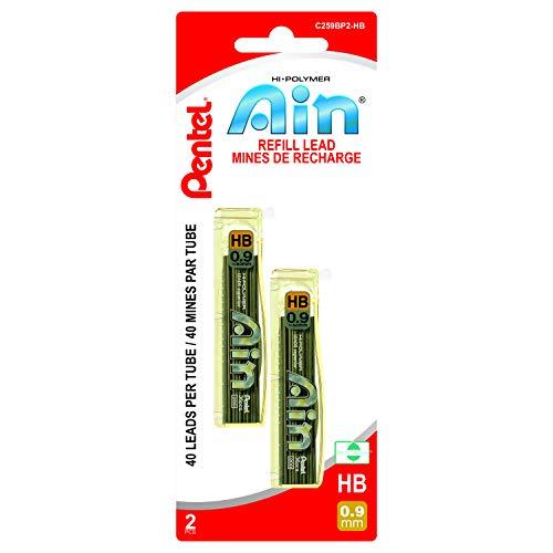 Paquete de 10 Pentel Ain Stein C272W-2B 0.2mm Recarga de plomo
