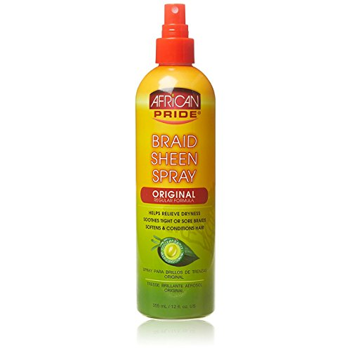 African Pride Braid Sheen Spray, 12 Oz