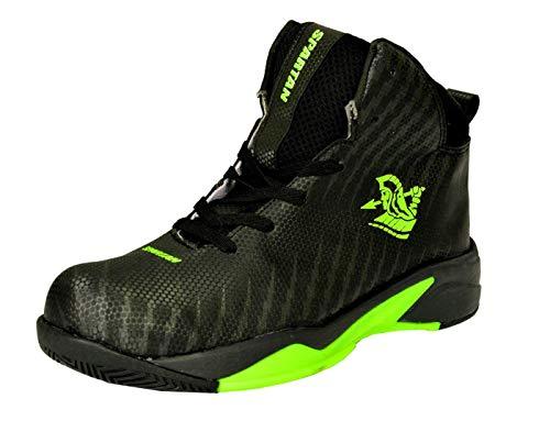 SPARTAN Men's Power Black Yellow Basketball Shoes - 7