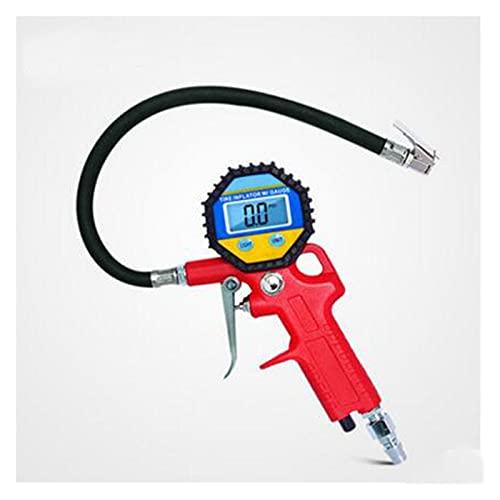 TIANKAI Allenzhang Manómetro de presión de neumático Digital para Herramientas de reparación de neumáticos desinfladas inflado Pistola de presión de presión Alta precisión