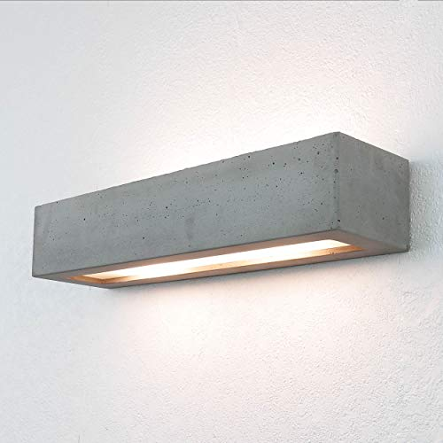 Lámpara de pared de hormigón, gris, moderna, Up & Down, lámpara de hotel, 2 bombillas E27, lámpara de interior, lámpara de pared, lámpara de pasillo, lámpara de dormitorio