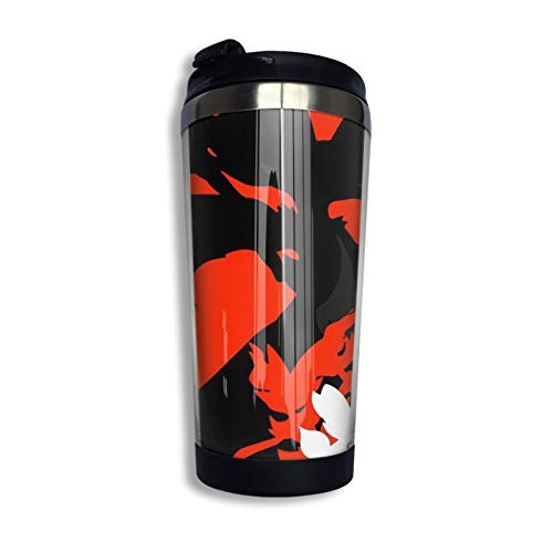 Fennekin Braixen Delphox (Evolution Line) Coffee Travel Mug Cup Double Wall Stainless Steel Vacuum Insulated Tumbler Mugs 13.5 Oz