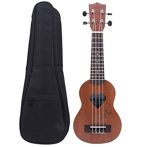 Ukelele para niños de 17 pulgadas, pequeña guitarra hawaiana ligera portátil con bolsa de regalo para principiantes, accesorio para niños